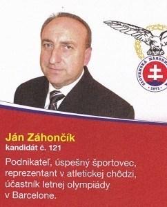 Ján Záhončík  (SNS)