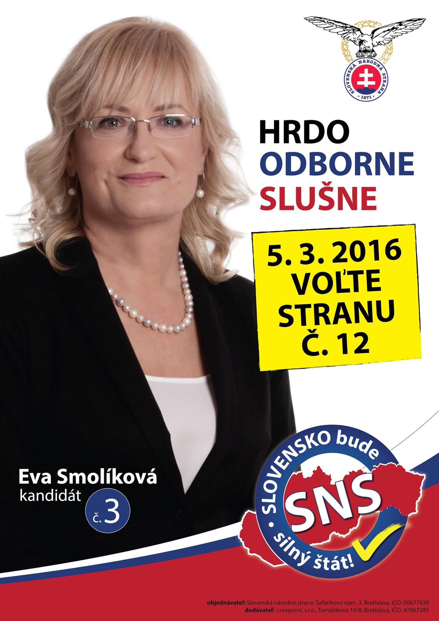 Mgr. Eva Smolíková  (SNS)