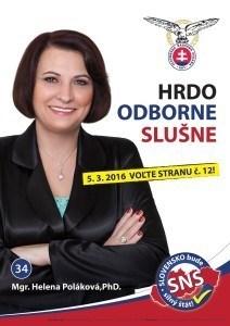 Mgr. Helena Poláková PhD. (SNS)