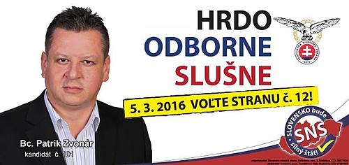 Bc. Patrik Zvonár  (SNS)