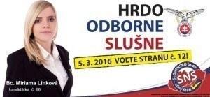 Bc. Miriama Linková  (SNS)