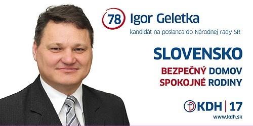 Bc.Ing. Igor Geletka  (KDH)