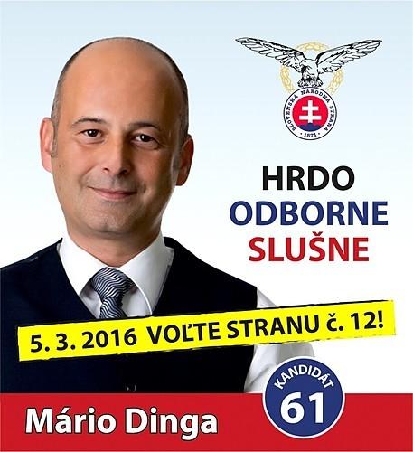 JUDr. Mário Dinga  (SNS)