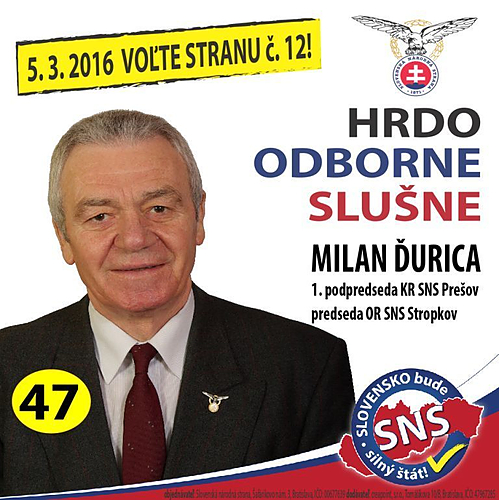 Milan Ďurica  (SNS)