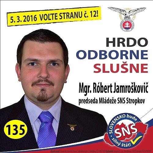 Mgr. Róbert  Jamroškovič  (SNS)