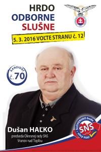Dušan Haľko  (SNS)