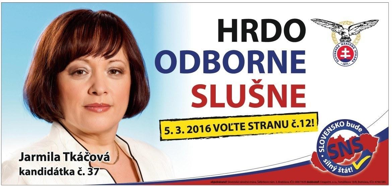 JUDr.Ing. Jarmila Tkáčová  (SNS)