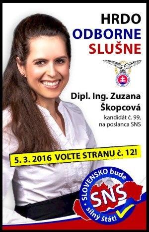 Dipl. Ing.  Zuzana  Škopcová  (SNS)