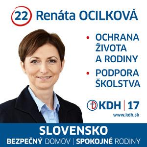PaedDr. Mgr. Renáta Ocilková  (KDH)