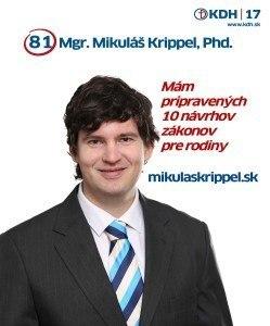 Mgr. Mikuláš Krippel PhD. (KDH)