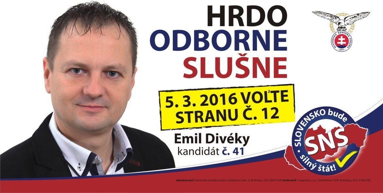Emil Divéky  (SNS)