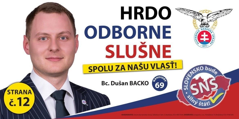 Bc. Dušan  Backo  (SNS)