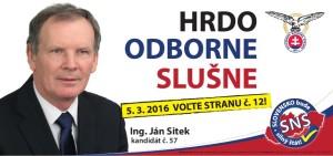 Ing. Ján Sitek  (SNS)