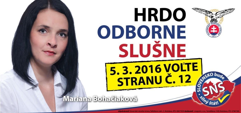 Mgr. Mariana  Bohačiaková  (SNS)