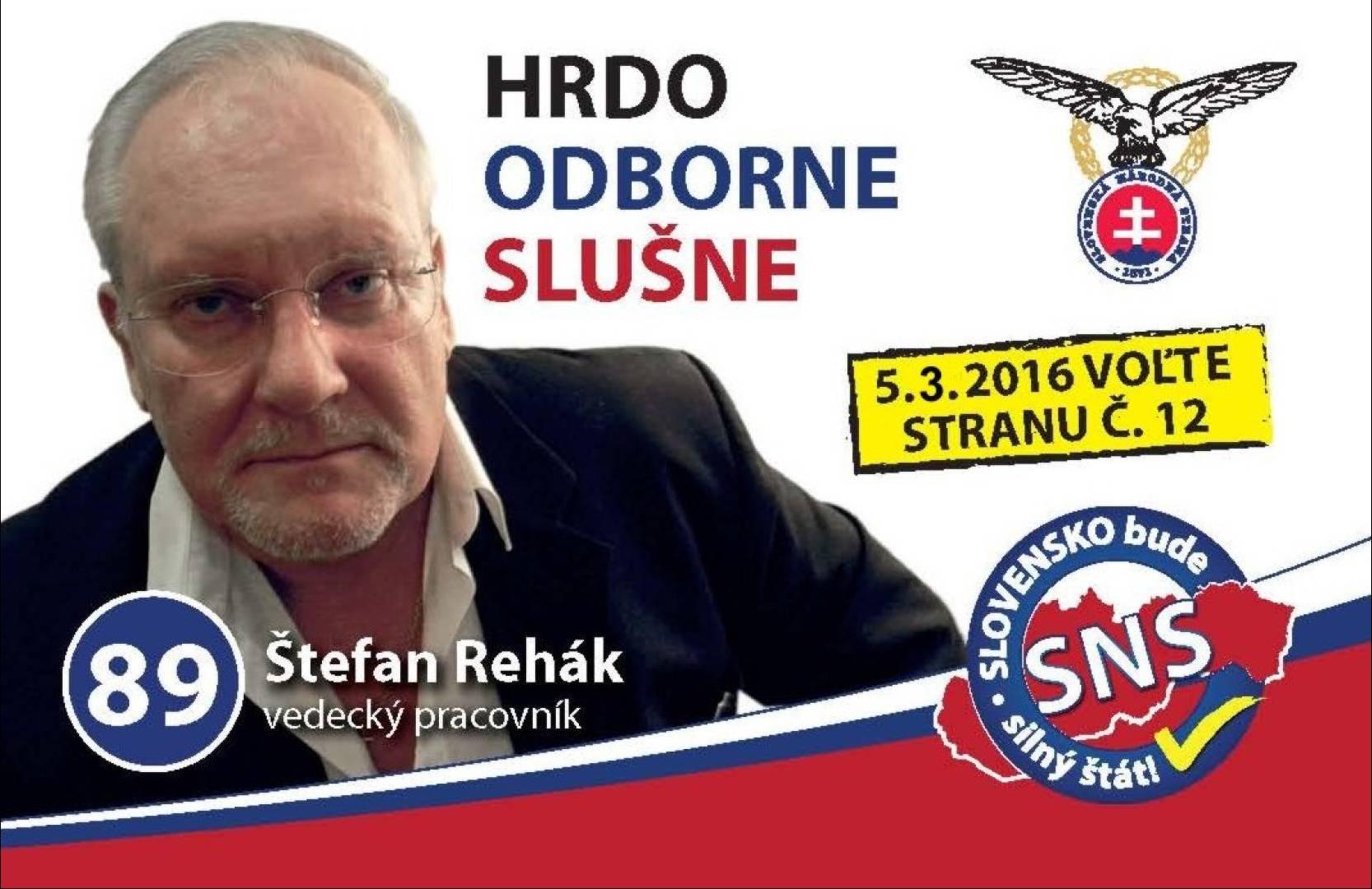Doc. RNDr. Štefan Rehák PhD. (SNS)