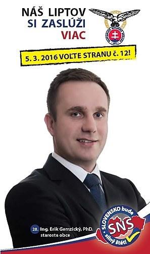 Ing. Erik Gemzický PhD. (SNS)