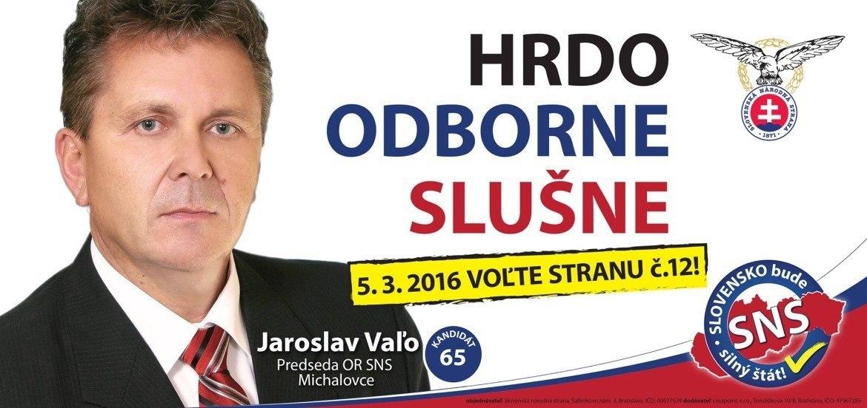 Ing.  Jaroslav Vaľo  (SNS)