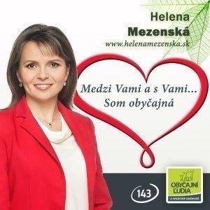 Mgr. Helena Mezenská  (OĽANO - NOVA)