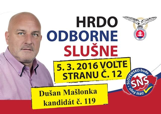 Ing. Dušan Mašlonka  (SNS)
