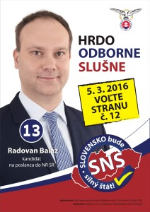 Ing. Radovan Baláž  (SNS)