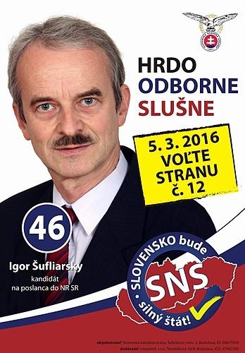 Ing. Igor Šufliarsky  (SNS)